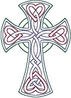 Japanese Embroidery Designs redwork Celtic Trinity knot cross embroidery design by anita Celtic Patterns, Celtic Designs, Cross Designs, Machine Embroidery Designs, Embroidery Patterns, Hand Embroidery, Cross Stitch Patterns, Embroidery Tattoo, Zentangle Patterns
