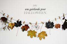 DIY: Une guirlande pour Halloween ! / DIY: una guirnalda para Halloween! Theme Halloween, Halloween Ideas, School Holidays, Activities, Party, Crafts, Noel, Manualidades, Parties
