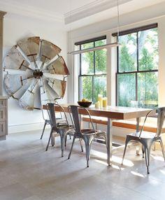 Industrial Eat-In Area | photo Virginia Macdonald | design Connie Braemer | @House & Home