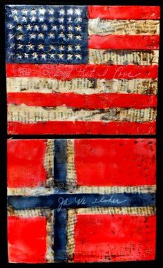 American Flag - Norwegian flag -