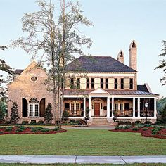 Top 12 Best-Selling House Plans | 5) Abberley Lane,Plan -Would change exterior, get rid of garage and wrap porch