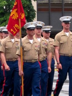 Soldiers marching in the Memorial Day Parade