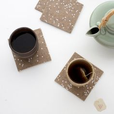 Confetti Patterned Coasters make a charming hostess gift.
