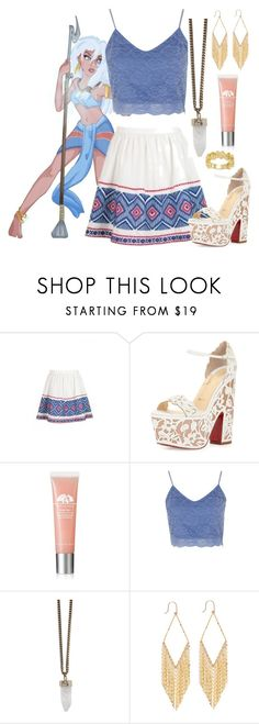 """""""Kida - Date Night - Disney Bound"""" by rainbowbaconcupcake ❤ liked on Polyvore featuring Bonpoint, Christian Louboutin, Origins, Topshop, Givenchy, Lana and NEXTE Jewelry"""