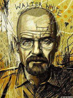 Drawn Walter White by Dustin Parker