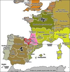 Map of Europe as seen by the Basques