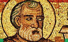 """Mosaïque du baptistère de St Jean Baptiste. Les """"(grands) prophètes"""" 17. Noé"""