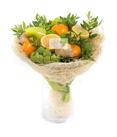Ushka Gifts | Фруктово-овощной букет «Фитнес-меню» Vegetable Bouquet, Serving Bowls, Bouquets, Gift Wrapping, Sweet Home, Food And Drink, Sweets, Fruit, Vegetables