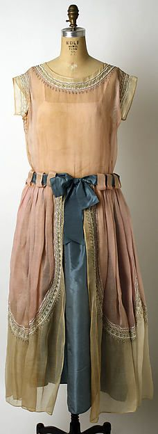 Robe de Style Design House: House of Lanvin (French, founded 1889) Designer: Jeanne Lanvin (French, 1867–1946) Date: 1922 Culture: French Medium: cotton, silk, glass, metal