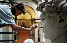 Multimedia for art conservation and restoration: restoration work on Michelangelo's David. Explore the updated online encyclopedia from Encyclopaedia Britannica with hundreds of thousands of articles, biographies, videos, images, and Web sites. Miguel Angel, Sistine Chapel Ceiling, Art History Major, Jetta A2, Sculpture Textile, Italian Sculptors, Museum Studies, Art Through The Ages, Baroque Art