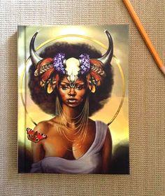 Taurus Hardcover Notebook by Sheeba Maya.