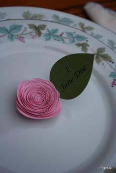 Wedding Escort Cards Paper Roses Soft Pink by Flight33 on Etsy, $1.50
