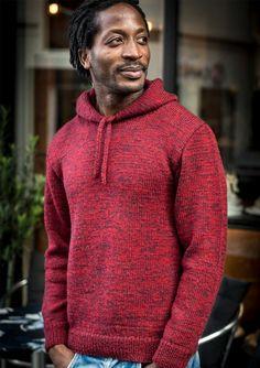 1165b8ca4 Strikket herresweater med hætte i Mayflower 1 Class Knitwear Fashion