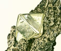 Diamond illustration. Chemical element chart print. Mineral wall art. Vintage #geology art. Gift idea for geologist student. Gemstones illustrations.  Published in Paris. 45... #illustration ➡️ http://jto.li/EvM6x