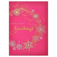 Papyrus Boxed Cards Gold Wreath 8 Ct