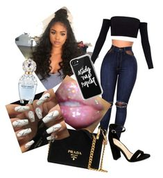 College Doll  by zcmcp on Polyvore featuring polyvore, moda, style, WithChic, Prada, Casetify, Marc Jacobs, fashion and clothing
