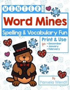 This money-saving bundle combines Word Mines for December, January, and February.  No prep required for these fun Spelling Patterns & Vocabulary Word Mine seasonal activities. Just print and use, either in full color projected under your document camera, or in gray scale black & white as individual worksheets. CCSS 3rd Grade -  Also available in monthly packets.