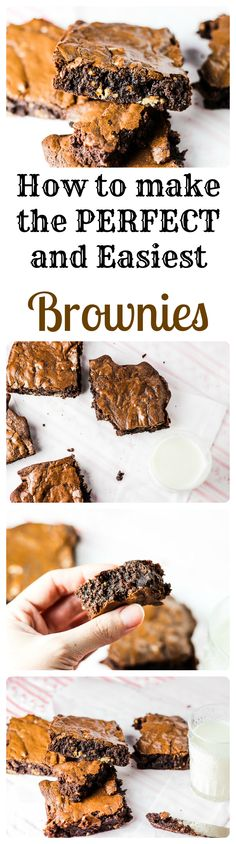 Simply the most PERFECT fudgy brownies! Fudgy Brownie Recipe, Fudgy Brownies, Blondie Brownies, Chocolate Brownies, Brownie Recipes, Brownie Cookies, Chocolate Chip Cookies, Cookie Recipes, Coconut Oil Chocolate