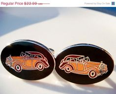 Holiday Sale Vintage Antique Car Cuff Links  by PaganCellarJewelry