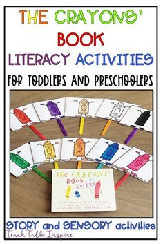 Color Activities for Toddlers and Preschoolers Color Activities For Toddlers, Hands On Activities, Literacy Activities, Preschool Activities, Teaching Resources, Toddler Preschool, Preschool Prep, Montessori Toddler, Crayon Book