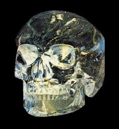 No, it's not about Indiana Jones.  There are actually 13 known crystal skulls that have been found throughout the earth.  They are made from quartz crystal, they have absolutely no tooling marks. Their origins are a mystery and they are claimed to have healing powers. Wierd...