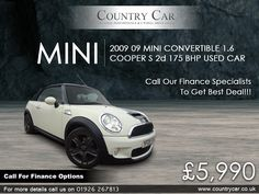 Used MINI cars in Warwick from Country Car Classic Mini, Classic Cars, Mini Uk, Mini Cars For Sale, Mini Cooper S, Amazing Cars, Car Ins, Used Cars, Convertible