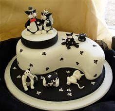 Black and white kitty cake!