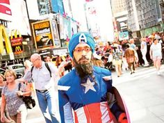 Political cartoonist Vishavjit Singh pairs superhero costume with his turban to highlight need for cultural understanding