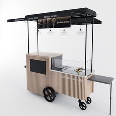 Coffee And Books, Coffee Box, Coffee Carts, Mobile Restaurant, Mobile Food Cart, Food Cart Design, Ice Cream Cart, Best Food Trucks, Architecture Restaurant
