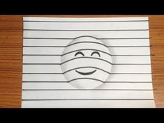 How to draw 3d emoji - art on paper very easy - YouTube