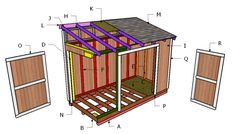 This step by step diy woodworking project is about lean to shed roof plans. This is PART 2 of the small garden shed, where I show you how to build the lean to roof. This roof frame is super sturdy and it will also drain the water easily. Lean To Shed Plans, Diy Shed Plans, Building A Wood Shed, Building Plans, Building Design, How To Build Steps, Build Your Own Shed, Shed Doors, Shed Kits