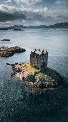 Johannes Hulsch — Castle Stalker - Scotland Shared by Motorcycle Fairings - Motocc Scotland Castles, Scottish Castles, Abandoned Castles, Abandoned Places, Abandoned Mansions, Beautiful Castles, Beautiful Places, Places To Travel, Places To See