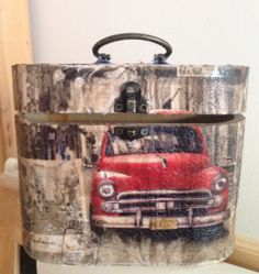 Decoupage old timer