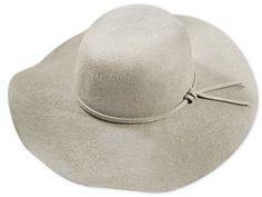 Eleganter Damenhut, Merino Qualität, sehr breite Krempe, farblich passendes Hutband, Metallabzeichen Elegant, Hats, Fashion, Felt Hat, Badge, Classy, Moda, Hat, Fashion Styles
