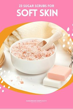Homemade Sugar Scrubs recipes are the perfect way to pamper yourself or someone else. These DIY beauty products make you feel like you spent a day at the spa! They make your skin so soft. Great for gifts! All-natural. Sugar Scrub Homemade, Sugar Scrub Recipe, Diy Beauty, Beauty Hacks, Diy Scrub, Sugar Scrubs, Fun Crafts For Kids, Tips Belleza, Home Made Soap