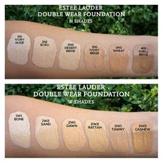 Estee Lauder Double Wear, Double Wear Light, Foundation Dupes, Double Wear Foundation, Makeup Looks For Brown Eyes, Make Up Tricks, Festival Makeup, Makeup Swatches, Beauty Box