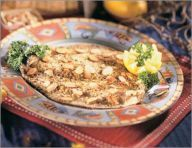 Broiled trout with almonds. Gluten-Free