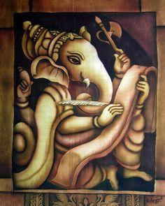 Anotha Ganesh Silk painting