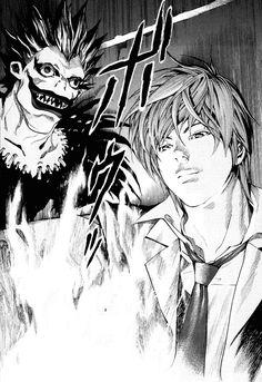 Tags: Death Note Manga, Light Yagami, Ryuk [But Light's lips tho]