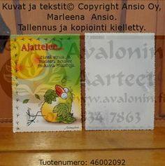 Marleena Ansio birdy card: I´m thinking... ...of you... / Marleena Ansion lintukortti: Ajattelen... ...tässä sinua...