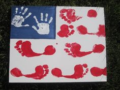 4th of july kids crafts   Sewing for Sanity: AMERICAN FLAG ART {A 4th OF JULY KIDS CRAFT}