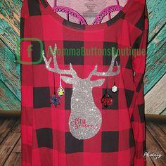 Christmas glitter dear shirt
