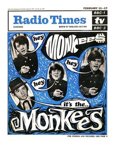 The Monkees  on the cover of Radio Times (1967) - loved the show on TV when I was young, still listening to their music and getting Radio Times magazine every week