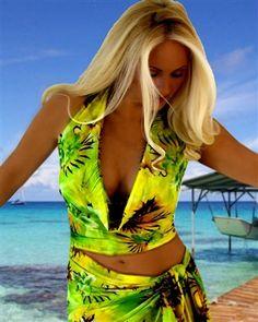 Hawaiian Green cute halter swimsuit coverup. Shop: http://www.jackiesboutique.com/ProductDetails.asp?ProductCode=HAWGRDRAPETOP