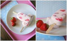Miss Blueberrymuffin's kitchen: Das beste Erdbeer-Eis am Stiel (Tchibo)