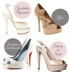 Pretty Peep Toe Bridal Shoes