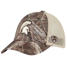 new style 7c7c9 6f090 Michigan State Spartans TOW Camo Mesh Prey Adjustable Snapback Hat Cap