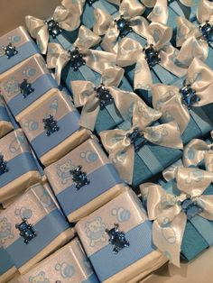 Individually wrapped square chocolates for any occasion! These cute chocolates were to welcome a baby boy! Great favorto pass out to friends and family when baby and mom come home!