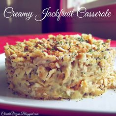 Read More About Creamy Jackfruit Casserole Vegan Casserole, Casserole Recipes, Chicken Casserole, Going Vegetarian, Vegetarian Recipes, Healthy Recipes, Vegetarian Options, Vegan Options, Eat Healthy