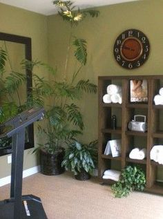 Eclectic Gym Photos Design, Pictures, Remodel, Decor and Ideas - page 3 Home Gym Decor Workout Room Home, Gym Room At Home, Home Gym Decor, Workout Rooms, Home Exercise Rooms, Home Gyms, Basement Gym, Garage Gym, Basement Remodeling